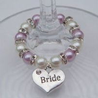 Bride Wine Glass Charms